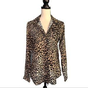 The Shirt by Rochelle Behrens Tops - The Shirt Rochelle Behrens Leopard Print Blouse